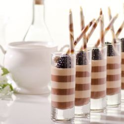 Chocolate Hazelnut Pannacotta Verrine