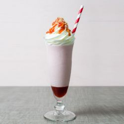 Strawberry Coconut Milkshake w/Coconut Semifreddo Mousse
