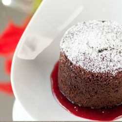 Instant Molten Chocolate Cake Image