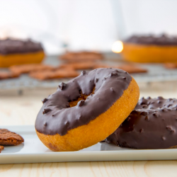 Brownie Brittle Donut Glaze