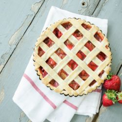 Strawberry Rhubarb Tart Image