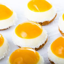 Coconut and Mango Petit Four
