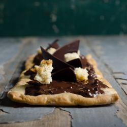 Chocolate Biscotti Flatbread
