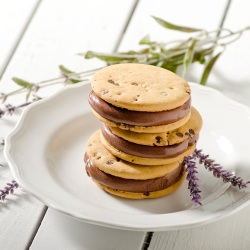 Chocolate Lavender Gelato Sandwiches Image