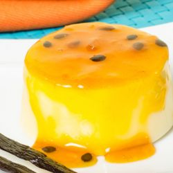 Vanilla Flan with Passion Fruit Topping Image