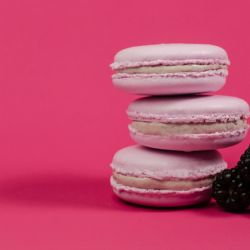 Blackberry Macaron with Blackberry Butter Cream Filling Image