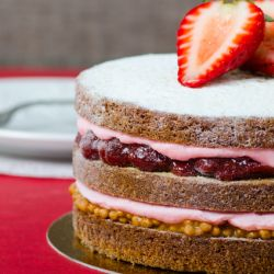Strawberry Peanut Butter Cake