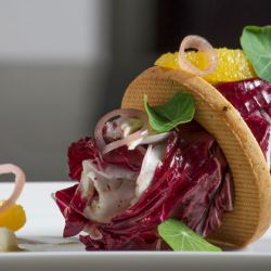 Raspberry Radicchio Salad with Savory Shortbread Image