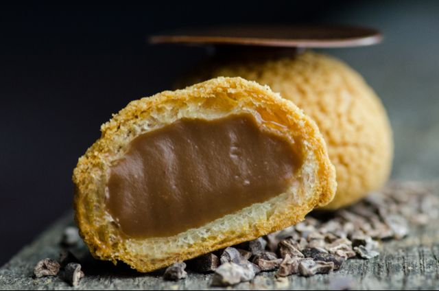 Milk Chocolate Filled Cream Puff