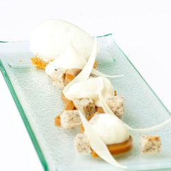 Caramel Green Apple Plated Dessert Image