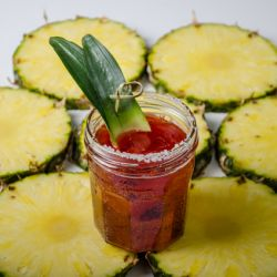 Pineapple Pom Spritzer Mocktail Image