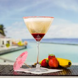 Banana Ginger Split Mocktail Image