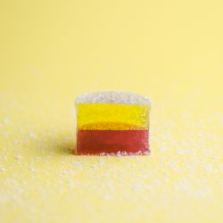 Lemon & Grape Layered Pate de Fruit Image