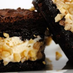 Nutty Peanut Gelato Brownie Sandwiches
